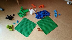 Lego Duplo Konvolut, Sammlung, Bausteine, Figuren, Tiere, Gundplatten