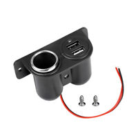 12V Car Cigarette Lighter Dual Auxiliary USB Power Outlet DC Socket Plug Adapter