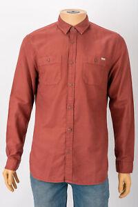 Jack & Jones Brown Sampras Shirt Medium Mens Long Sleeved Collared Bossa Nova