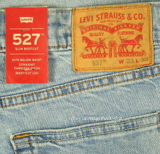 Levis 527 Jeans Mens New Slim Boot Cut Size 33 x 32 LIGHT BLUE Stretch Levi's