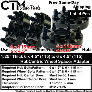 4PC 1.25'' THICK 6X4.5'' 66.1 HUBCENTRIC WHEEL SPACER ADAPTER FIT NISSA MODEL