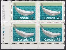 Canada 1990 #1179 Ll Pb Mammal Definitives - Beluga Whale - Mnh