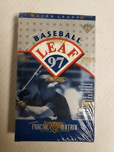 1997 Leaf  MLB Baseball Factory Sealed box 24 packs Fractal Matrix Die Cut?