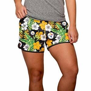FOCO NFL Women's Pittsburgh Steelers Tropical Breeze Shorts