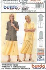 burda 8957 Misses' Top and Skirt 10 to 24  *Extremely Rare*  Sewing Pattern