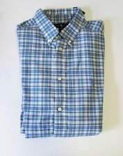 Ralph Lauren Boys Plaid Long Sleeve Sport Shirt Blue/White Sz XL (18-20) - NWT