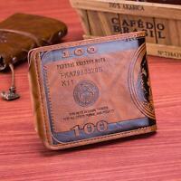 Fashion Mens Genuine Leather Bifold Wallet Credit,ID Card Holder Slim Coin Purse