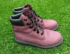 Timberland 6 inch Premium Waterproof Purple Nubuck Boots - UK Size 4