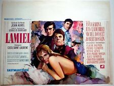 LAMIEL Belgian movie poster ANNA KARINA ROBERT HOSSEIN BRIALY 1967 RAY ELSEVIERS