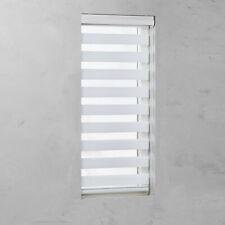Doppelrollo mit Kassette und Kettenzug in Weiß für Fenster und Türen Sichtschutz