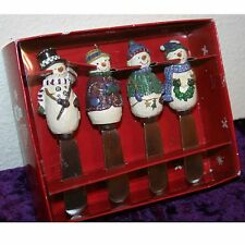 New in Box Set of 4 VERY CUTE!  Snowmen Spreaders by St. Nicholas Square