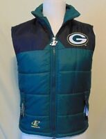 Green Bay Packers NFL Logo Athletics Vintage Vest Outdoor Youth M 10-12