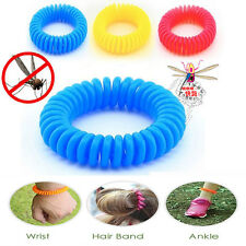 10pcs Random Color Anti Mosquito Bug Pest Repel Wristband Bracelet Insect Repell