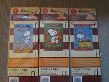 New listing Snoopy & The Peanuts Gang Fall/Autumn Mini Garden Flag-Choose 1