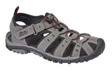 MENS GENTS SIZE 7 8 9 10 11 12 GREY RED FAUX LEATHER SLIP STRAP WALKING SANDALS