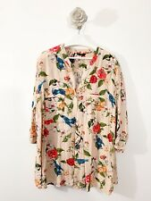 Floral Nude Humming Bird Blouse 3/4 Sleeve Button Casual Sz 18 20