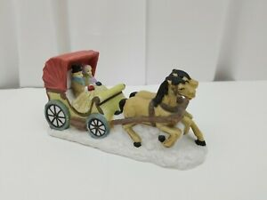 """Dickens Collectables Christmas Carriage Hand Painted Porcelain Original Box 7"""""""