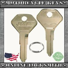 2 New Uncut Key For Kawasaki Motorcycles 1979+ Keyway X41 / Ka14