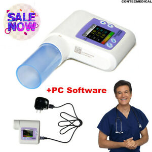 CONTEC SP10 Handheld Spirometer Lung Volume Pulmonary Function device +USB PC SW