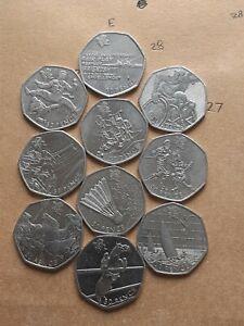 50p coin olympic job lot