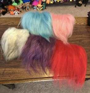 5 Piece Lot Of Various Colors Troll Hair For Wigs. Icelandic Fur.