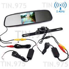"4.3"" LCD Monitor Car Wireless Back Up Camera Kit Rear View Mirror Night Vision"