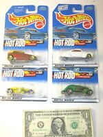 Hot Rod Magazine Complete Series Set Hot Wheels Die Cast Cars - Lot of 4