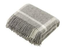 NATURAL COLLECTION 100% Wool Blanket Throw Rug British Made by Bronte