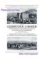 Getreide Limmer XL 1926 Reklame Harsdorf und Kulmbach Malz Ziegelei Werbung +