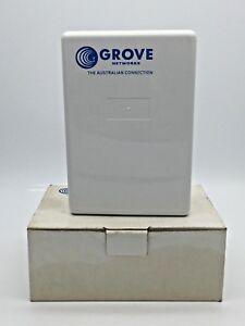 GROVE Surface Mount 2 Port Polycarbonate Enclosure 150x103x54mm White + Screws