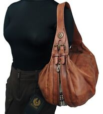 Authentic Belstaff Burnt Brown Lexa Leather Purse Shoulder Bag NWT
