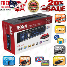 Boss Single Din USB AUX Radio Car Stereo Receiver Audio Bluetooth