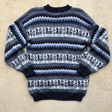 Alpaca Handmade Pullover Sweater Men's M/L ~ Knitted Soft Wool Cotton 🚚💨