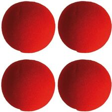 4 Stück Schaumstoff-Clownnase Clown-Nase rote Clownsnase Party Nose Ø ca. 6 cm