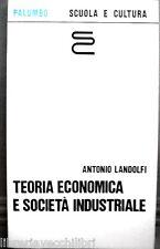 Economic Theory and Industrial Company Antonio Landolfi Palumbo Economy course