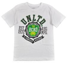 Ecko Unltd Big Boys S/S White & Green Graphic Logo Design Top Size 10/12 $19.50