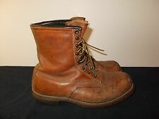 VTG-Chippewa Work Hunting Birding Cork Sole Cats Paw Leather Men Boots 8.5 SKU7