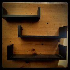 Black Floating Display Shelf Set Of Three