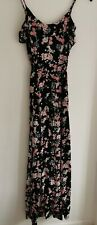 New Look Floral  Maxi Dress With Front Split Detail Size 8 Nwot