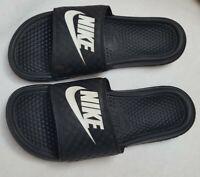 NIKE's - Women's  Slides - size 10 - Black and White GUC