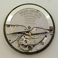Gruen Caliber 570 SS Automatic Watch Movement~Good Balance, Ticks