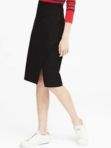 NWT Banana Republic New $79.50 Women Bi-Stretch Wrap-Front Pencil Skirt Size  2