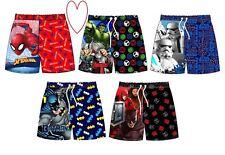 Boys Swim Shorts Swimming Trunks Characters 3-10 Years 7-8 Batman