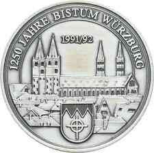 1250 Jahre Bistum Würzburg Dom/Bonifatius/Burkard Silber (9221)