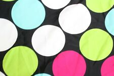 "Black + Pink Polka Dots 60"" Wide 4 Way Stretched Lycra Fabric Sold by the Yard"