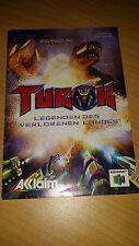 Nintendo 64 N64 Anleitung Manual Turok Rage Wars Legenden des verlorenen Landes