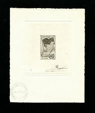 Congo 1961 Maps UN Flags Scott 93 Signed Sunken Die Artist Proof
