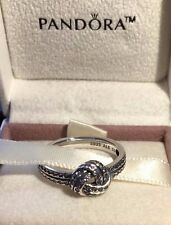 PANDORA SPARKLING LOVE KNOT RING 190997CZ,S925 ALE,SIZE 58 STERLING SILVER+POUCH