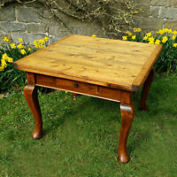 Victorian Pine Square Top Extending Draw Leaf Country Kitchen Dining Table C19th