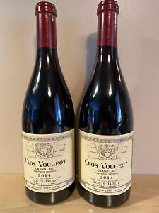 Grand Vin Bourgogne : 2 bouteilles de Clos Vougeot Grand Cru 2014 Domaine Jadot